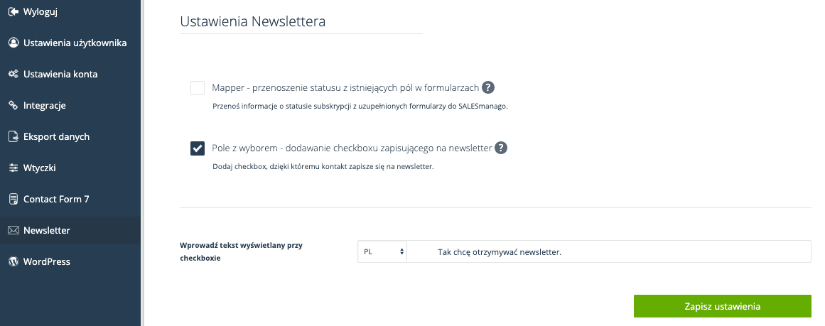 newsletter salesmanago