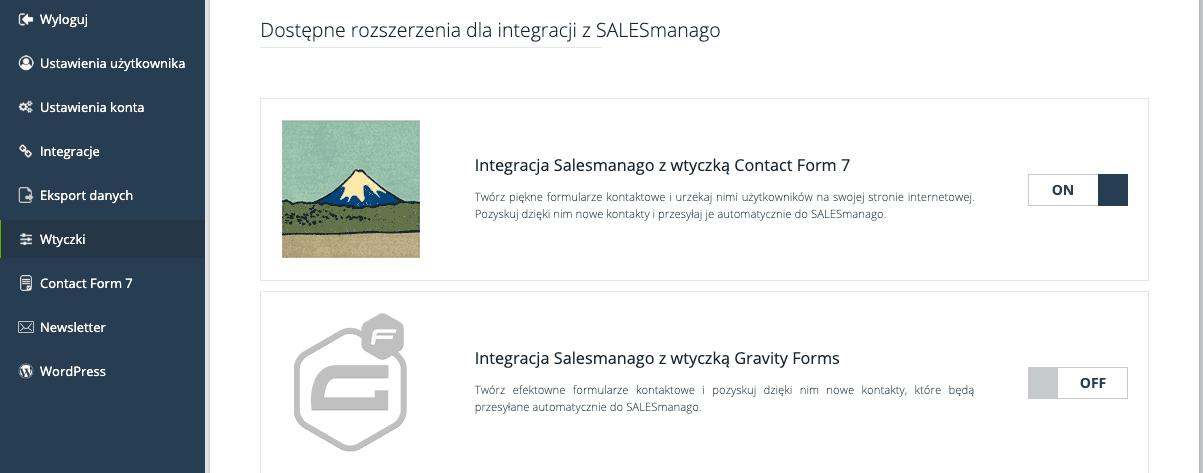 rozszerzenia dla integracji z SALESmanago