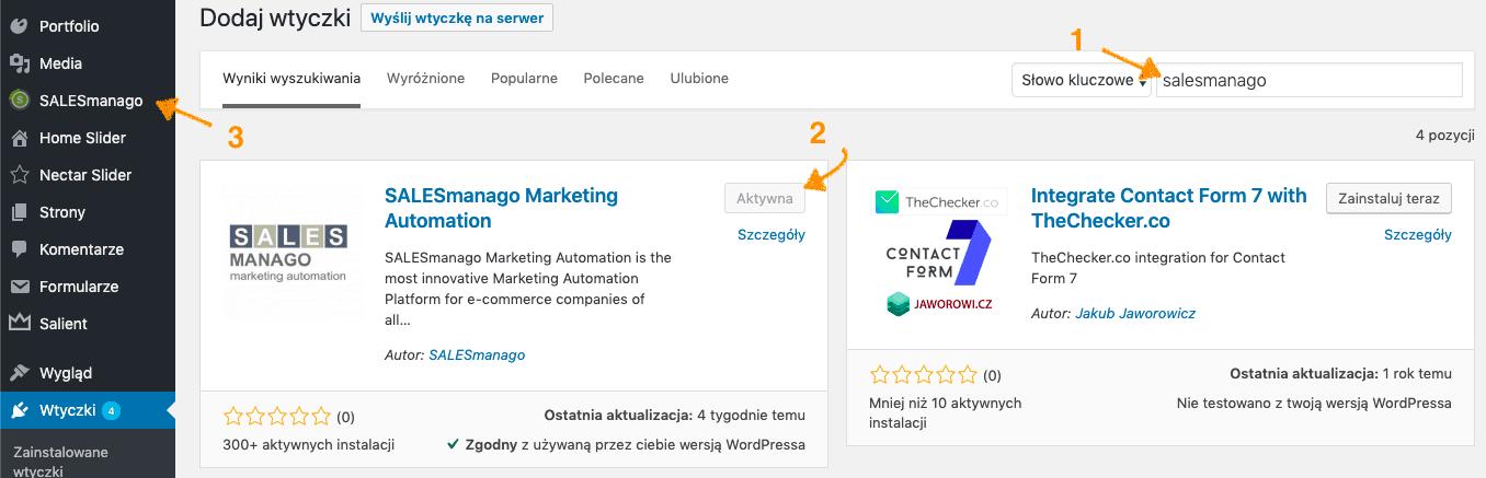 salesmanago marketing automation wtyczka wordpress